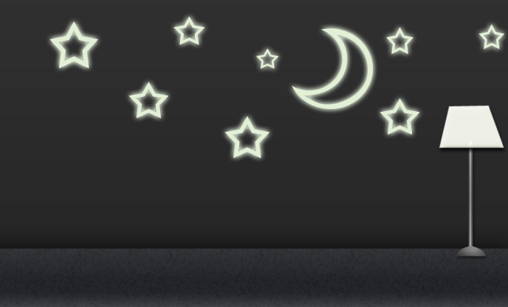 Úvod :: svietiace samolepky :: svietiace samolepky - hviezdičky a