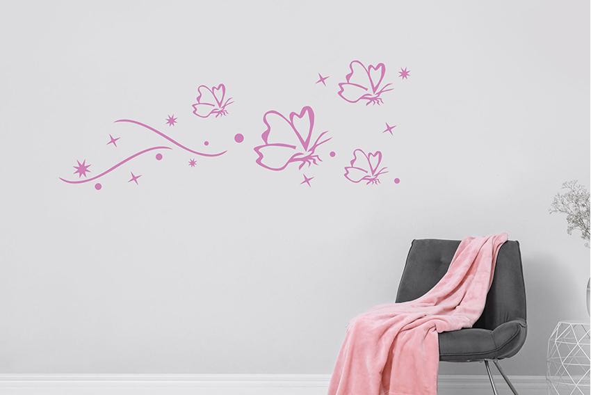 Úvod :: samolepky na stenu :: moderné kvetinové motívy :: štyri